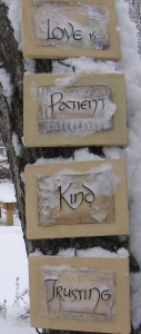 Snow Sign - Costello Weddings New Jersey