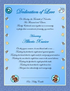 Baby Blessing Certificate BABY BOY